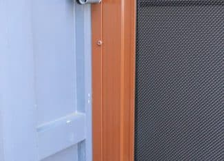 Custom Stainless Mesh Security Enclosure Using Mixture Of Fixed And Sliding Door Sections (7)