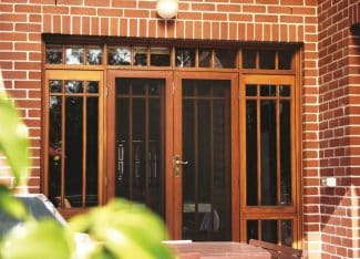 Security Screens Front Door Of A House