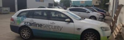 Sales Car With Starline Security Logo