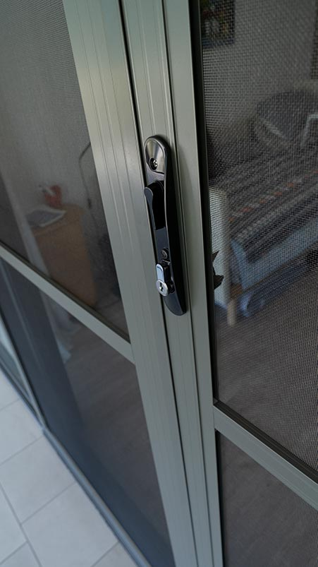 Door With Insect Mesh Screen Installed